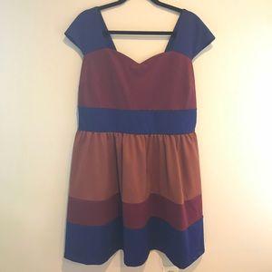 NWT ModCloth colorblock dress